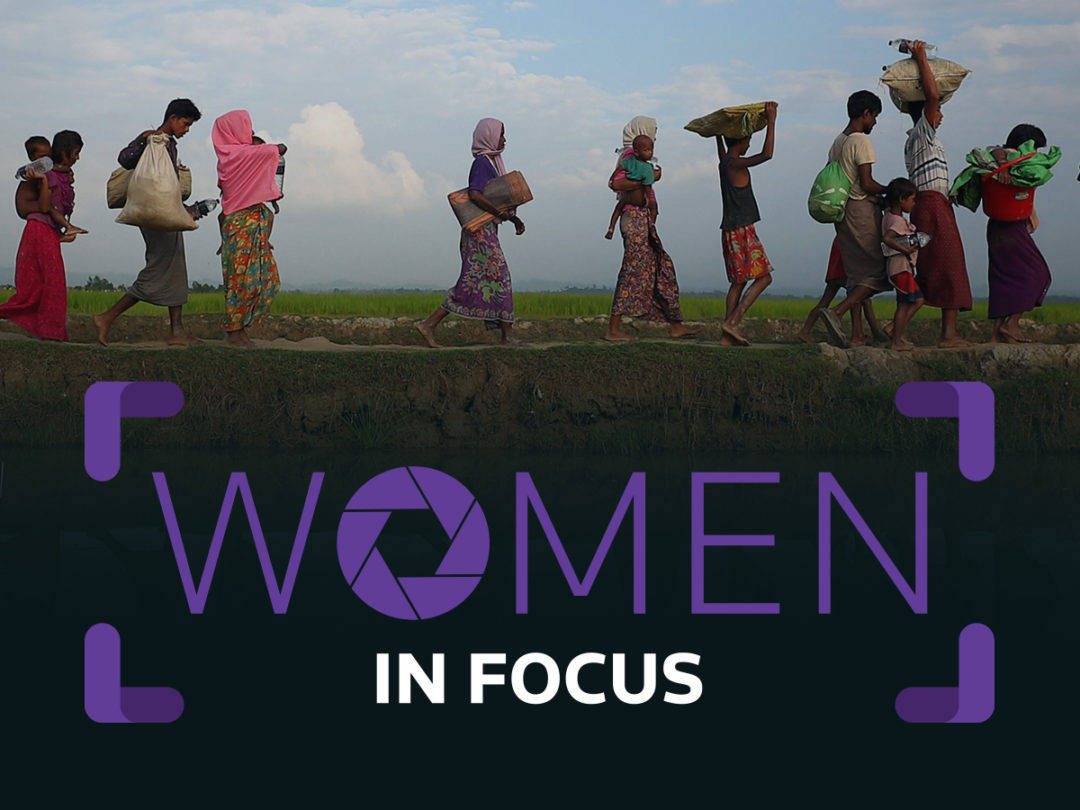 Women in Focus event branding