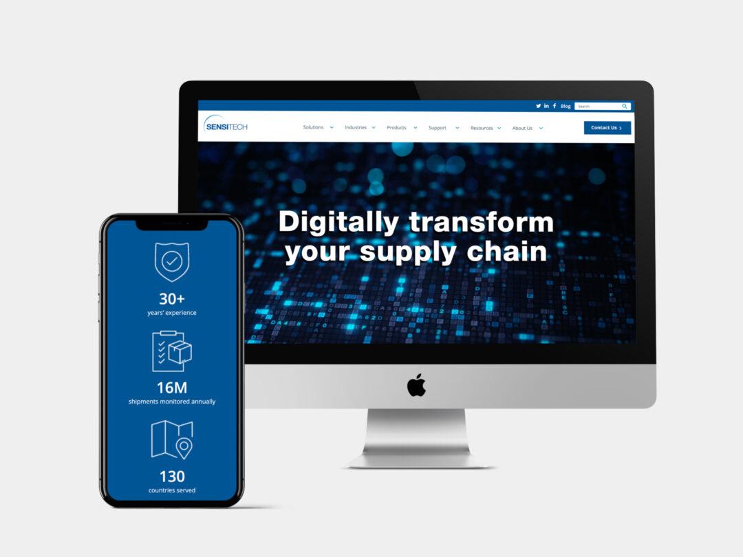 Sensitech corporate website design