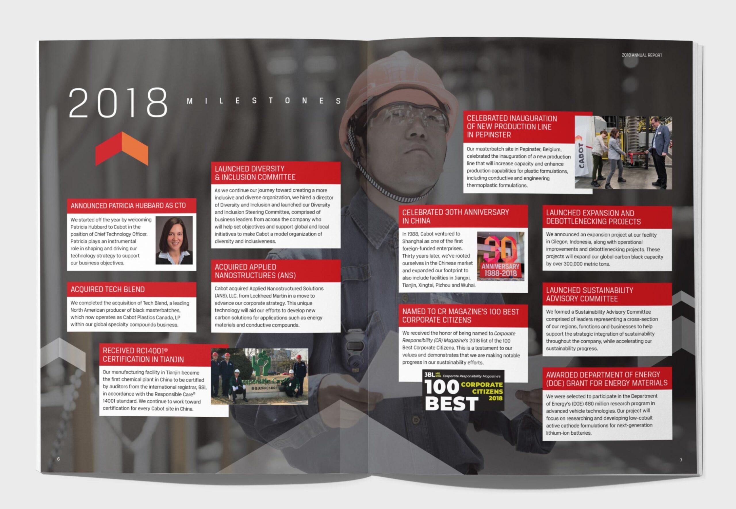 Corporate Annual Report spread