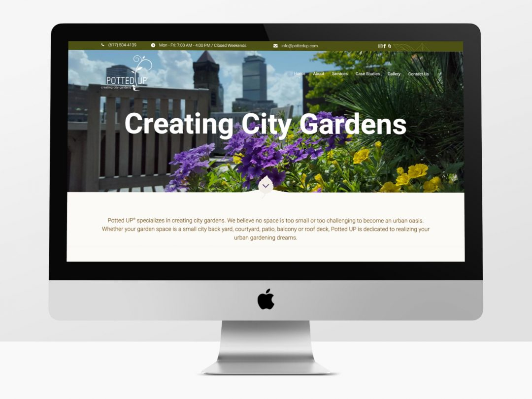 Fresh design and WordPress website for Potted UP