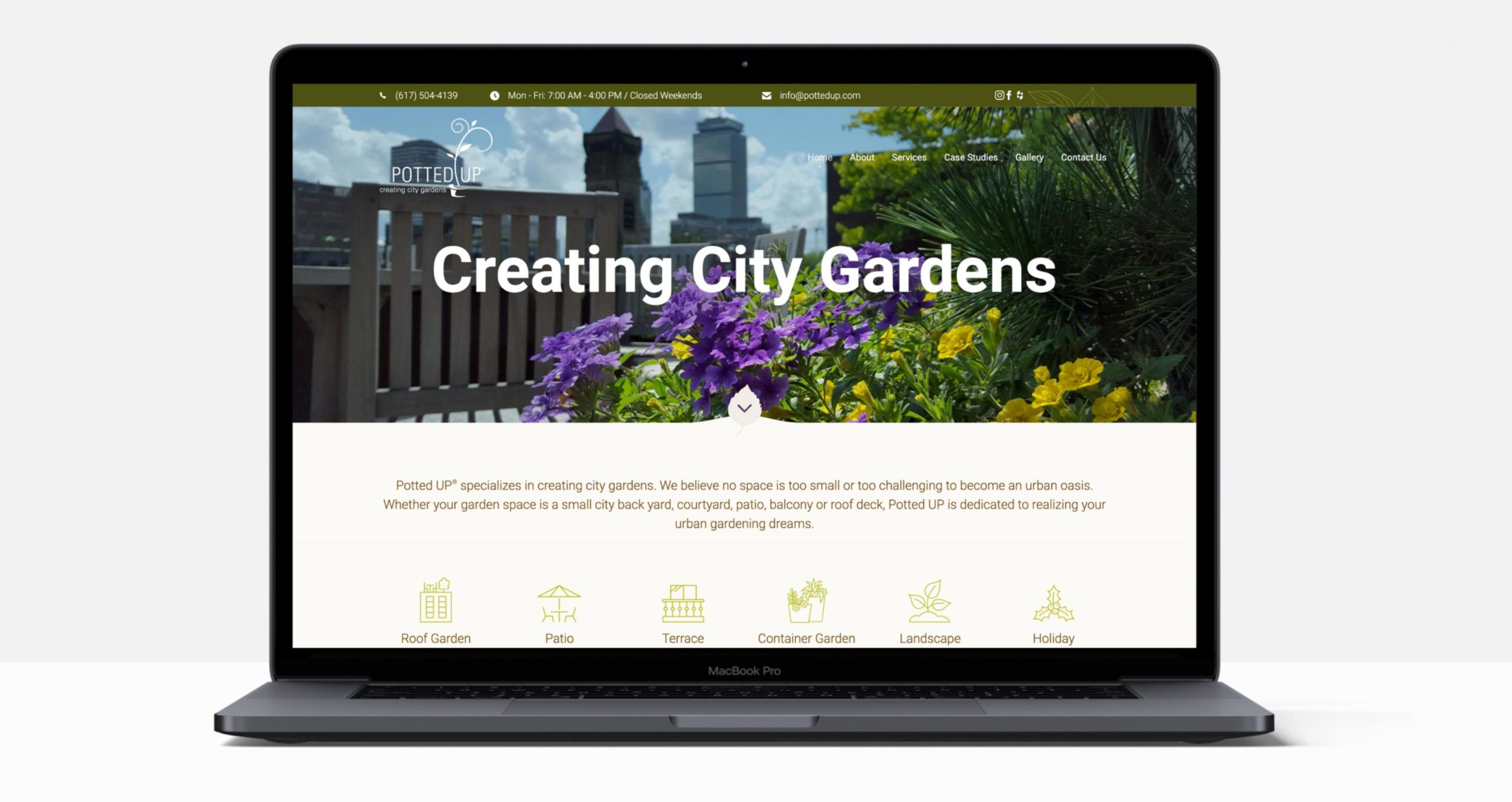 Potted UP Website