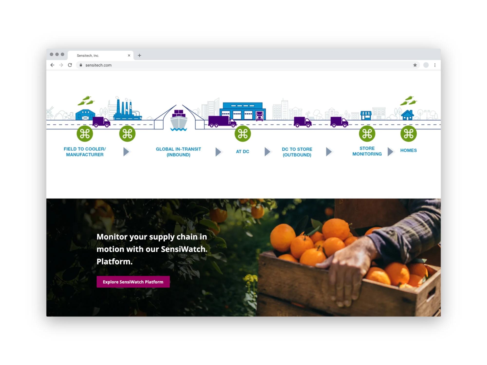 Sensitech Website Food Page